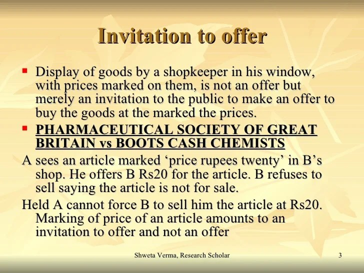 Definition of offer and invitation to treat invitationjpg offer and acceptance stopboris Image collections