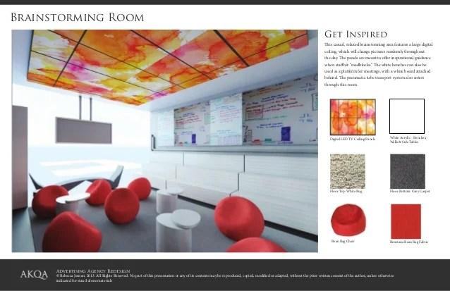 Interior design advertising for Ad agency interior design