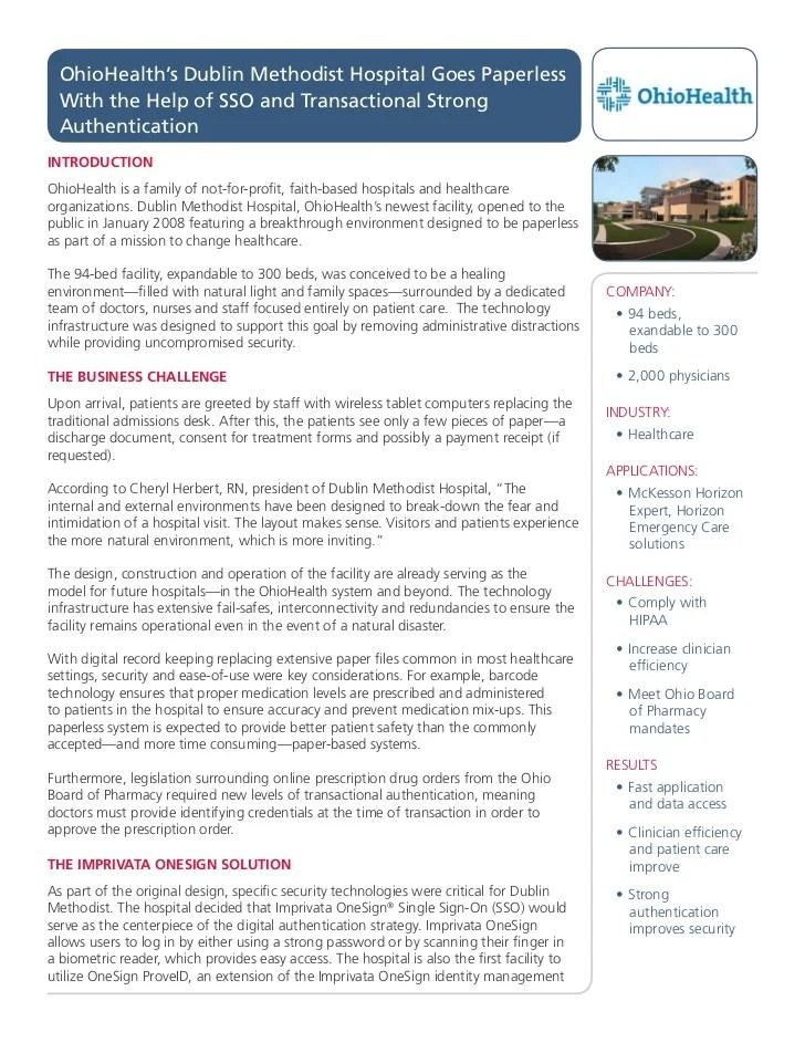 OhioHealth's Dublin Methodist Hospital Success Story