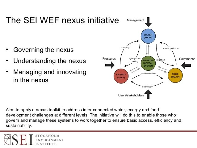 The Food-Energy-Environment Nexus: Supporting policies for ...