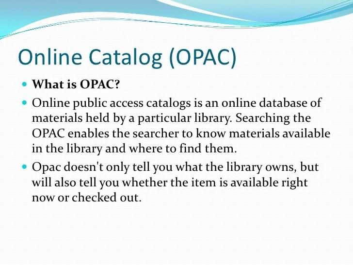 Opac search