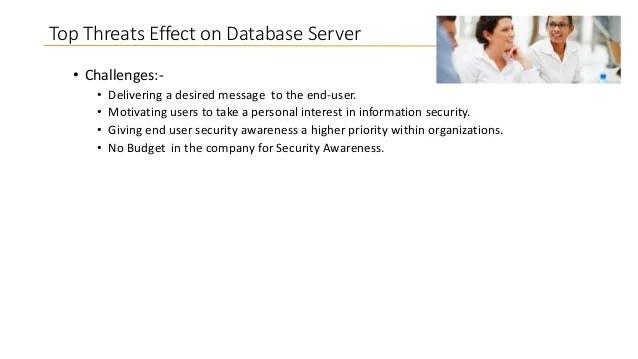 Top Ten Database Security Threats