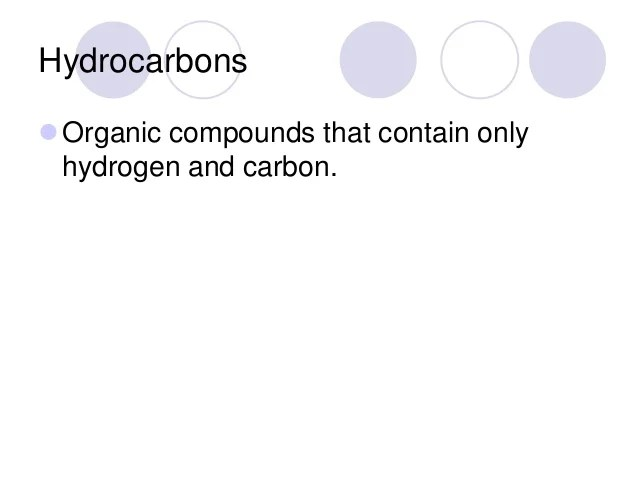 Organic Introduction  Saturated Compounds and Naming