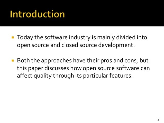 The Aspects Of Choosing Open Source Versus Closed Source