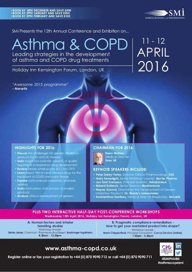 SMi Group's 12th annual Asthma and COPD 2016 conference