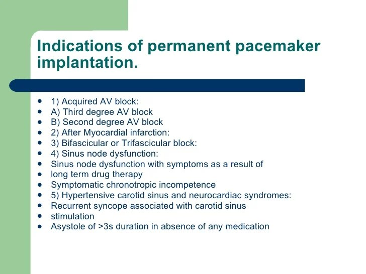 Pacemaker and anaesthesia