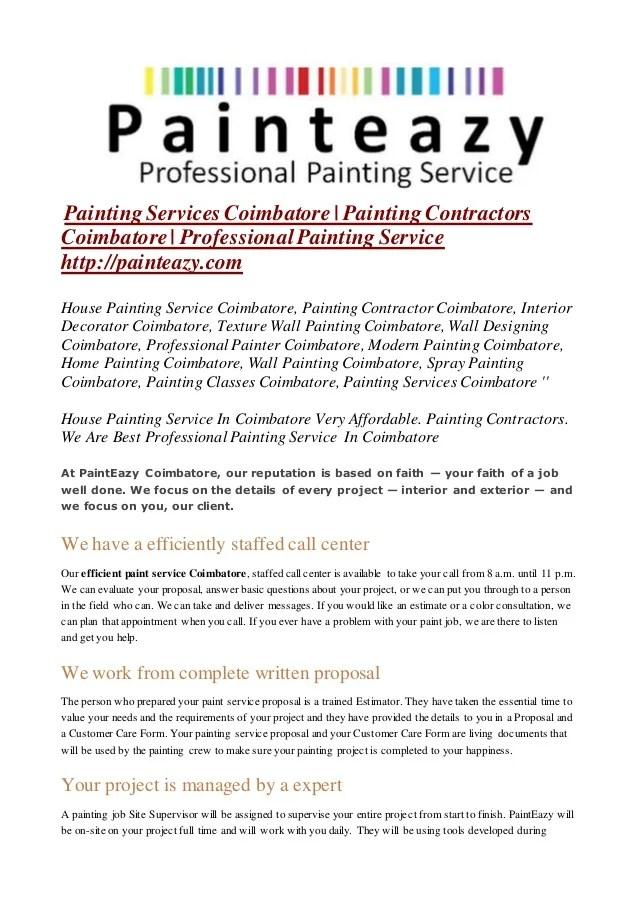 painting proposal free download