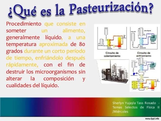 Pasteurizacion leche fresca