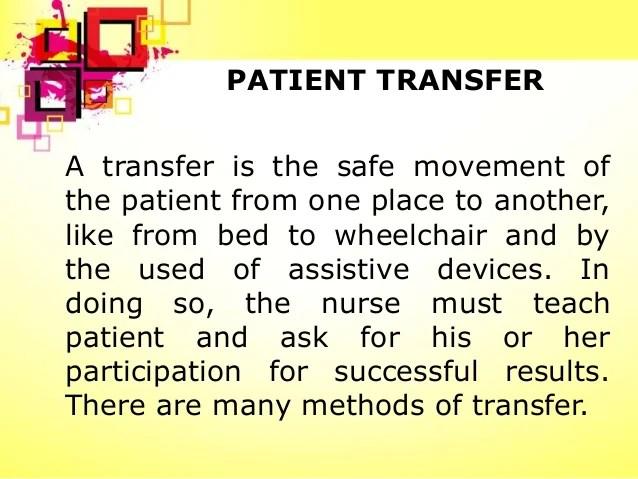 Patient Transfer Training Handout