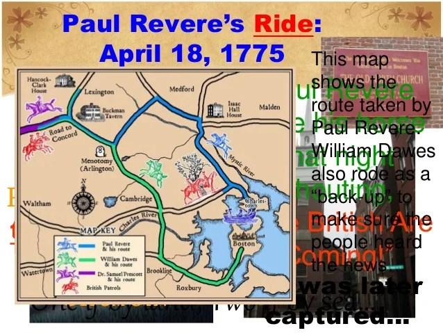 Revere Paul 1775 Route S