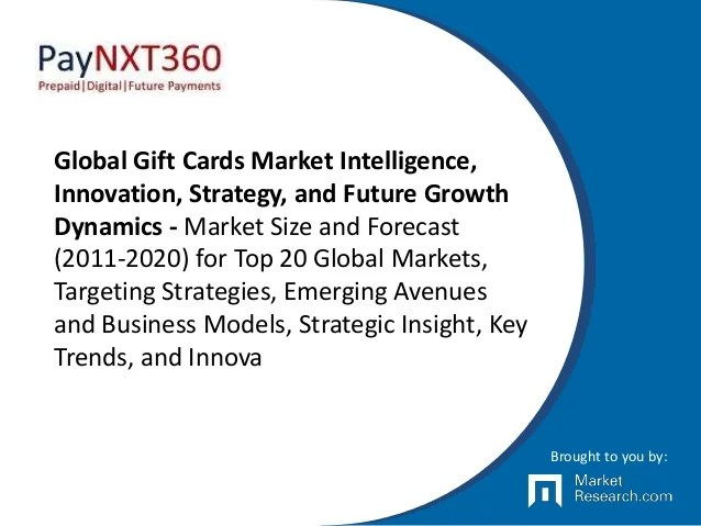 Global Gift Cards Market Intelligence, Innovation ...