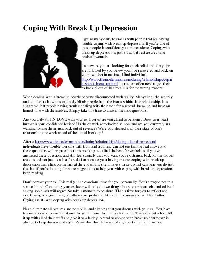Handling breakup depression