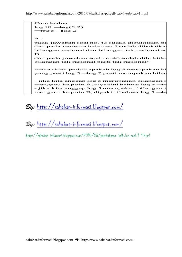 Kunci jawaban penyelesaian latihan soal soal yang ada di buku kalkulus dan geometri analitis edisi ke 4 jilid 1 edwin j.purcell dale varberg 1984. Pembahasan Soal Kalkulus Pada Buku Karangan Edwin J Purcell Dan Dale