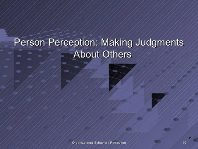 Perception     Organizational Behavior   Perception 9  10