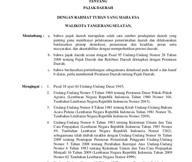 Lembaran Daerah Kota Tangerang Selatan Nomor  Peraturan Daerah Kota Tangerang Selatan Nomor