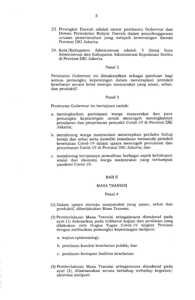 Gubernur Anies Keluarkan Pergub soal Pelaksanaan PSBB Transisi, Ini Isinya 5