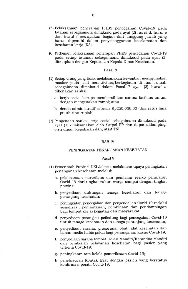 Gubernur Anies Keluarkan Pergub soal Pelaksanaan PSBB Transisi, Ini Isinya 8