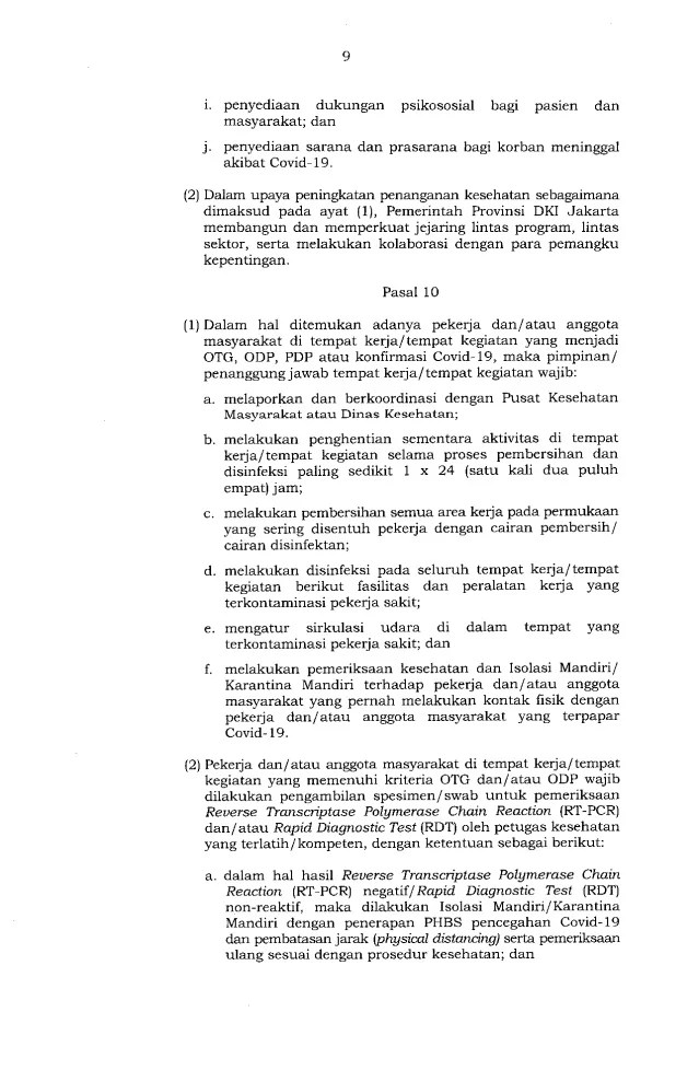 Gubernur Anies Keluarkan Pergub soal Pelaksanaan PSBB Transisi, Ini Isinya 9