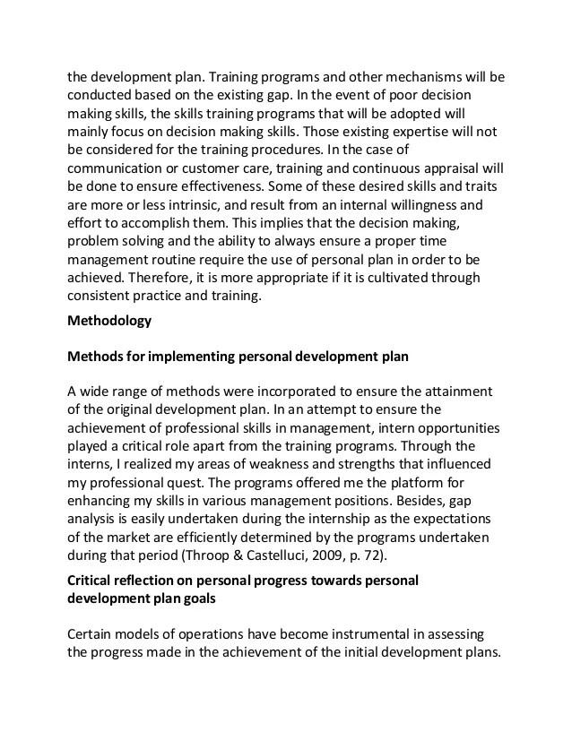 Self Improvement Plan Examples