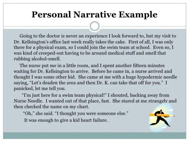 Personal Narrative Essay Examples For 6th Grade | Creativecard.co