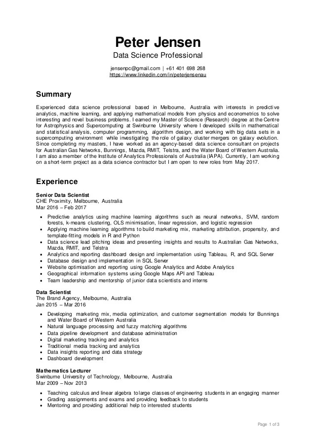 In this guide, i list 20 top resources about junior data scientist resume. Resume