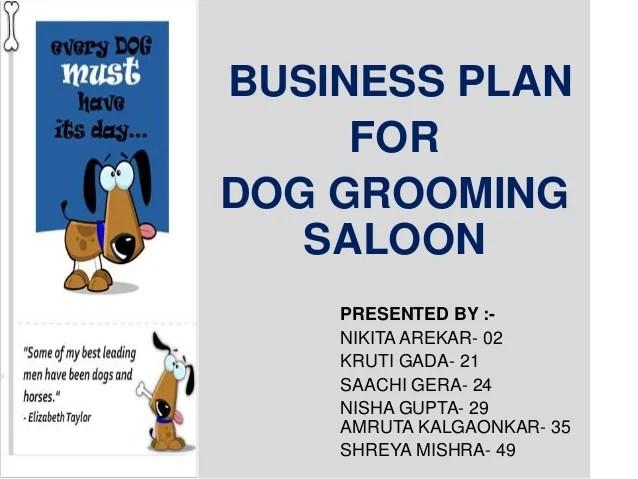 Business Plan Dog Grooming Shop