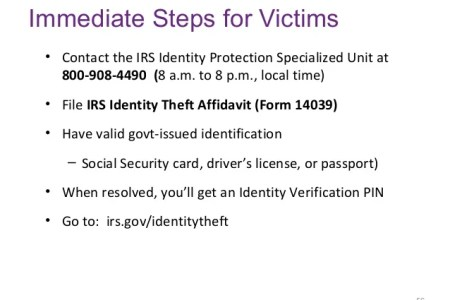 Free Application Forms Identity Theft Irs Form Application Forms