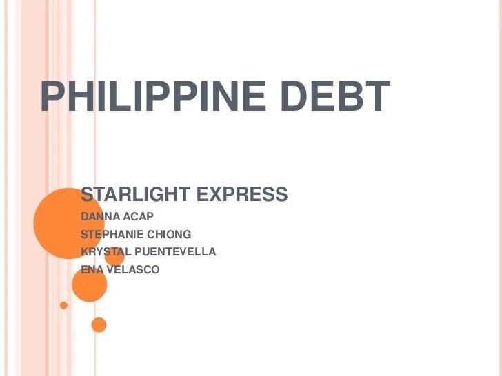 Philippine debt (1)