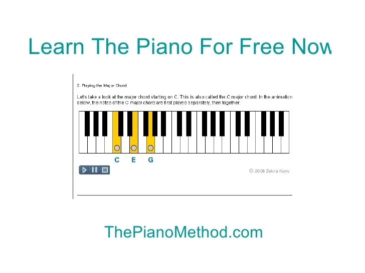Piano lessons for beginners free online