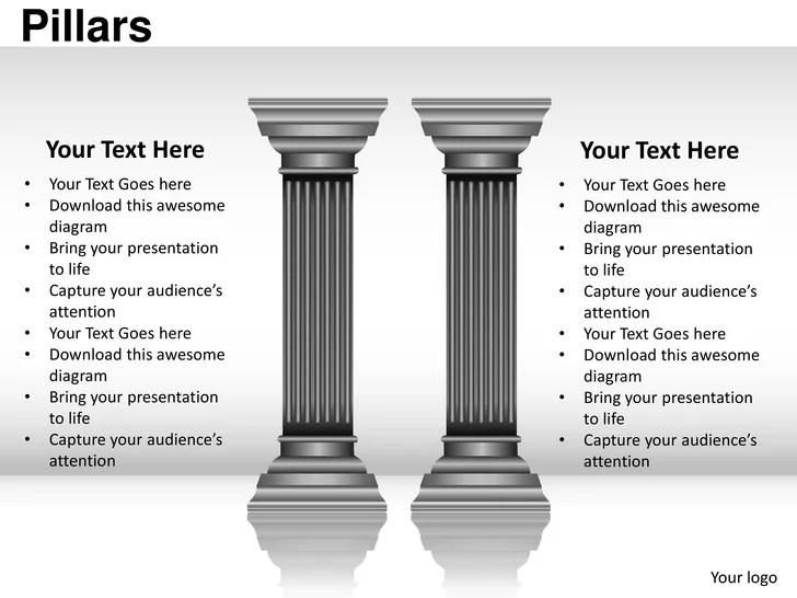 Pillars powerpoint presentation templates