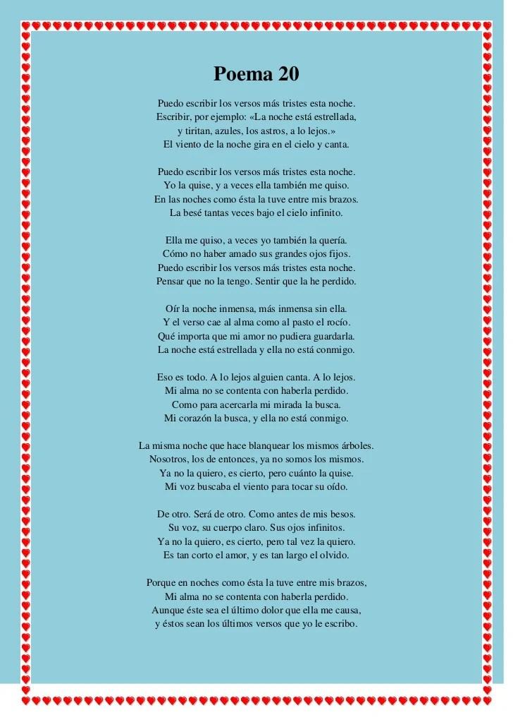 De Poema Neruda Pablo 20