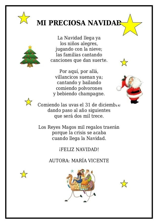 Poemas Para Ninos De La Navidad Poemas De Navidad