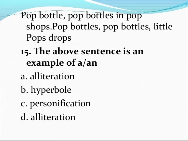 Examples Of Simile Metaphor And Personification Sentences Images