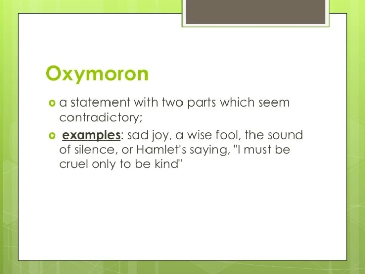 Oxymoron Poems Examples Poemview