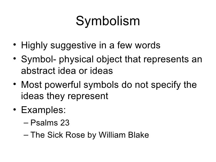 Example Of Symbolism In A Poem Poemdocor