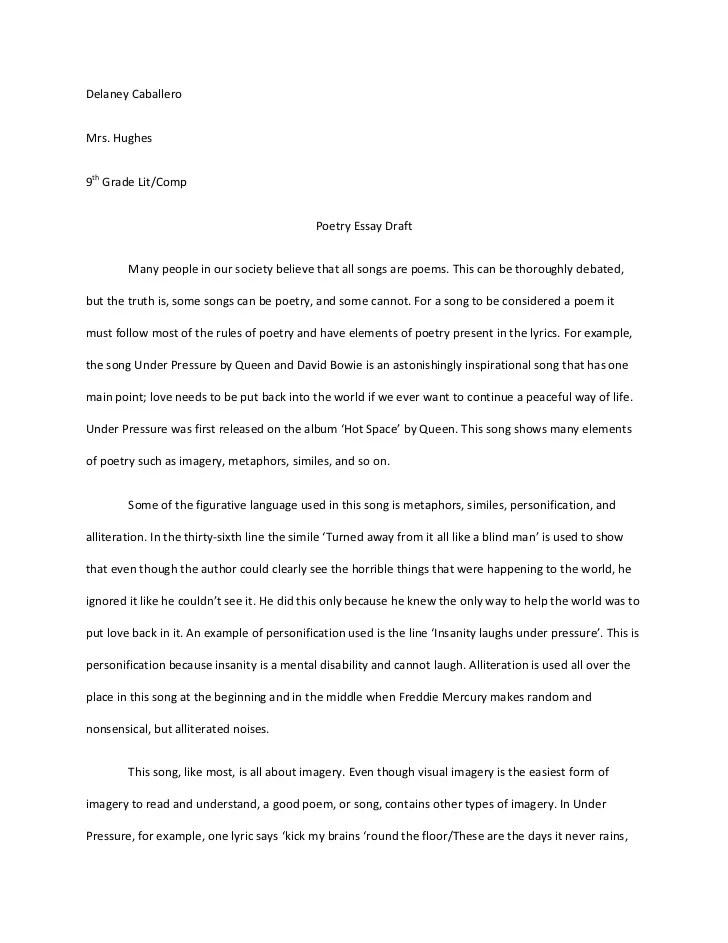 Example Of Poetry Analysis Essay Romes Danapardaz
