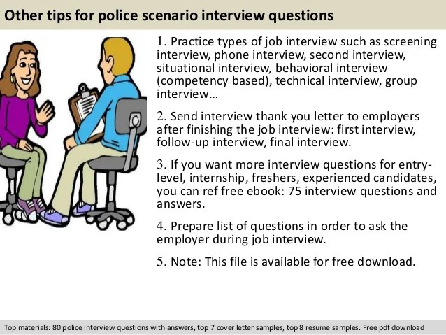police job interview questions