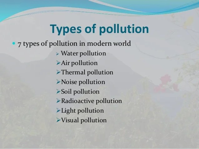 What Are The Different Types Of Air Pollution