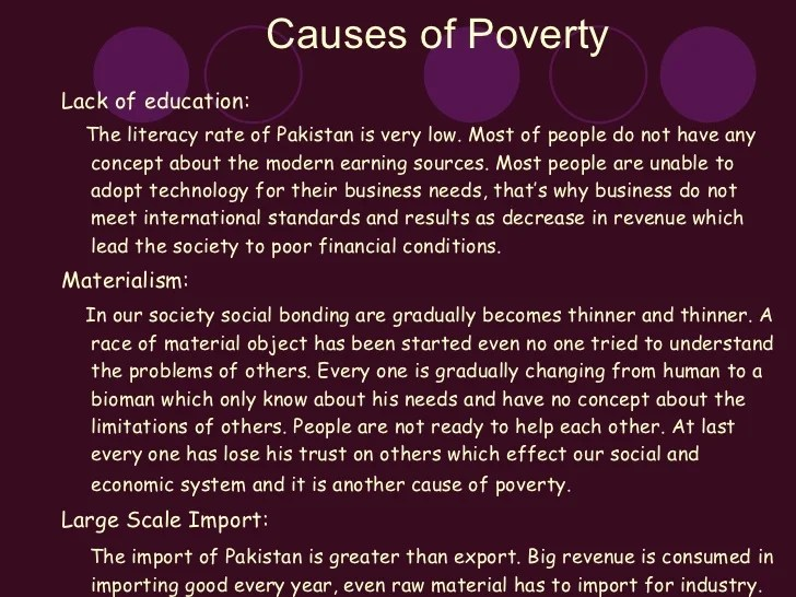 causes of poverty essay | Creativecard.co