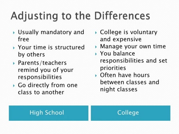 free compare and contrast essay high school vs college  mistyhamel comparison and contrast essay about high school college