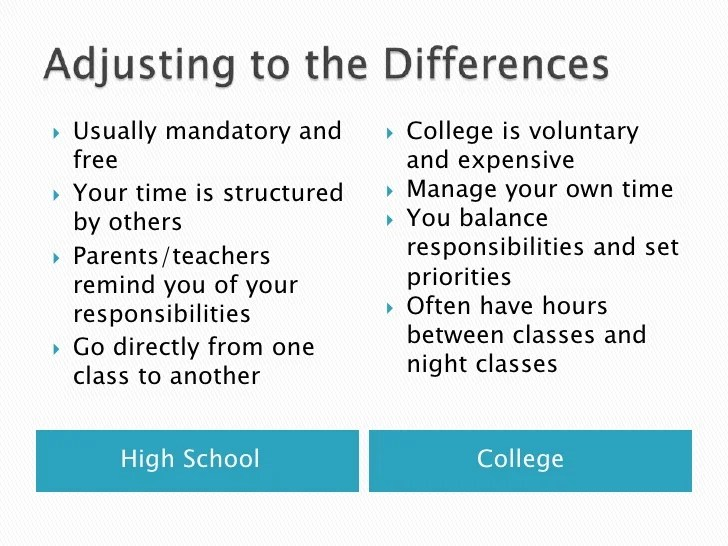 compare and contrast high school versus college free essay  mistyhamel comparison and contrast essay high school vs college life