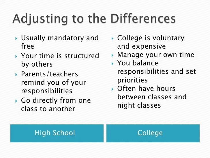 compare and contrast high school versus college free essay  mistyhamel