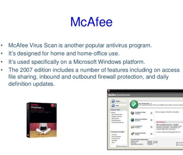 Mcafee  E2 80 A2 Mcafee Virus Scan