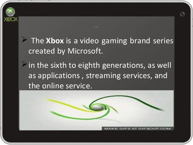 PPT Slide Presentation On Xbox