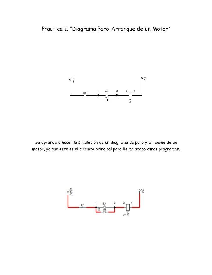 Practica 1 Diagrama Paro Arranque de un Motor