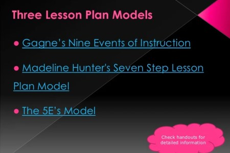 Lesson Plan PowerPoint Presentation  br     23  Three Lesson Plan