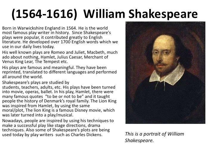 Shakespeare William Role Renaissance