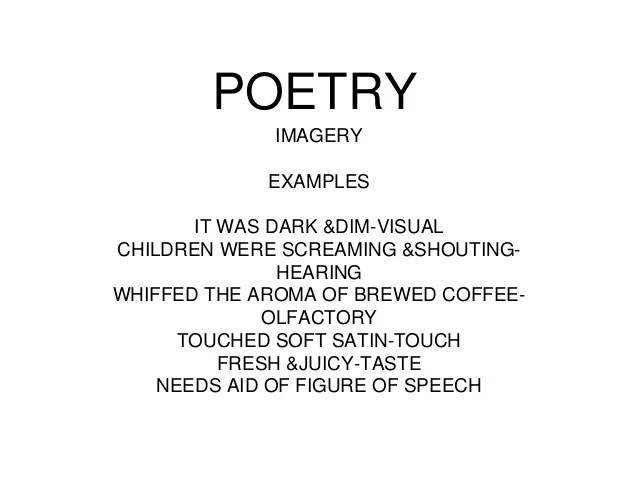 Imagery Poem Examples Textpoems