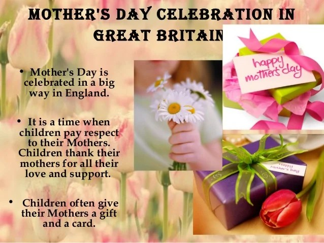 Presentation mother's day in gb 2012