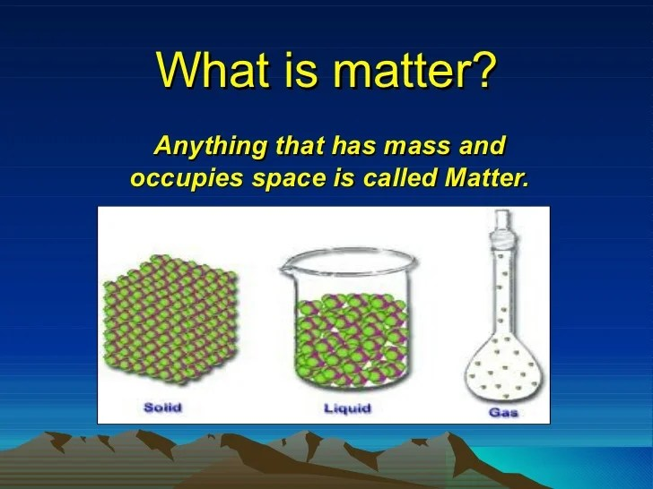 Presentation of science (matter)